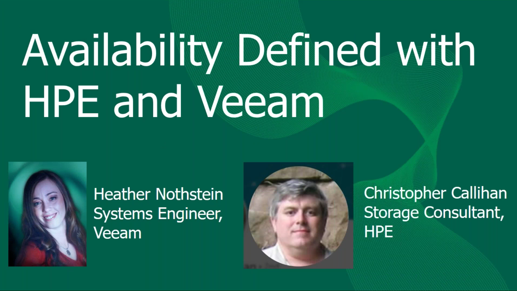 HPE and Veeam Bring Rock Solid Availability  to your data center