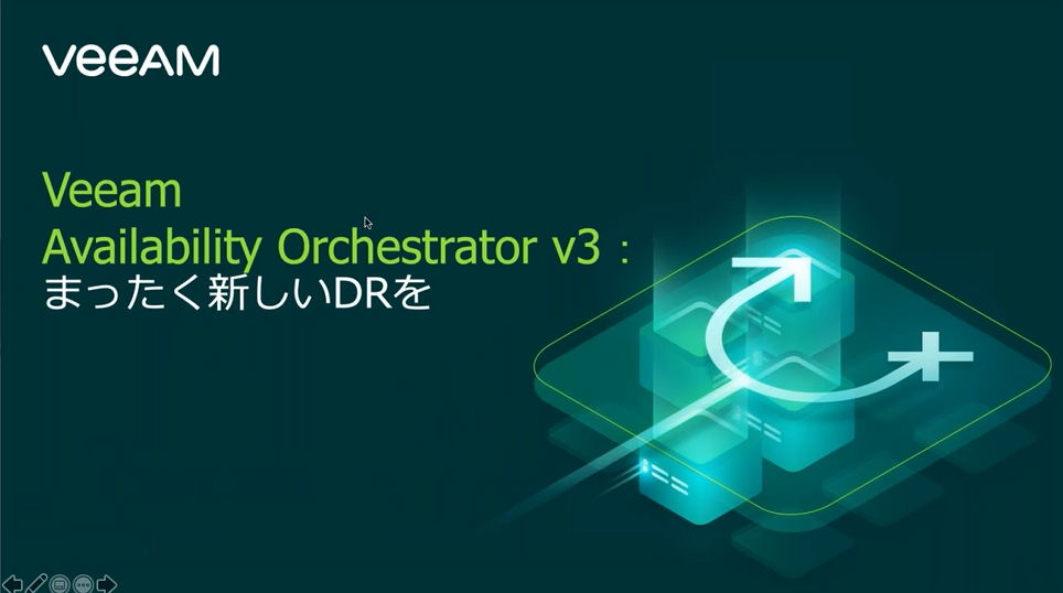 Veeam Availability Orchestrator v3: まったく新しいDRを