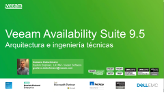 Veeam Availability Suite 9.5: Arquitectura y componentes