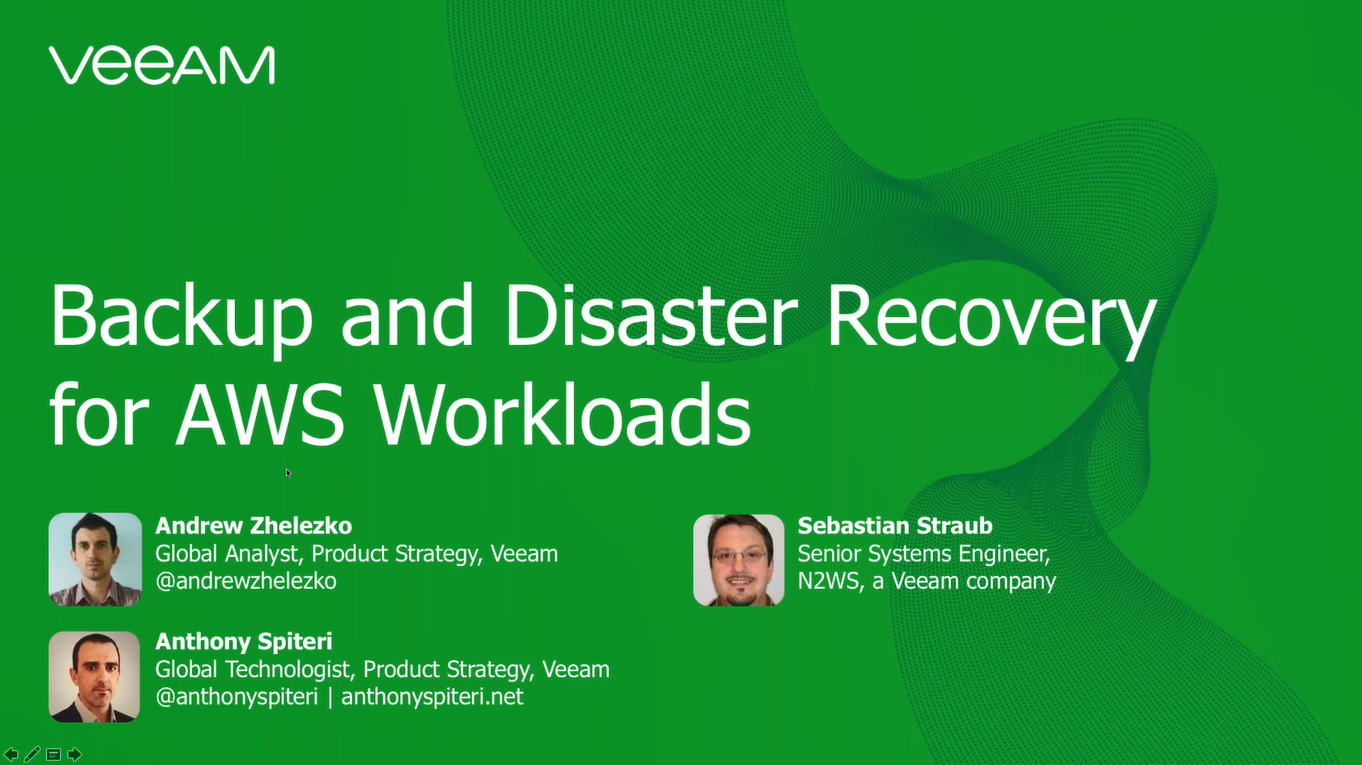 Backup and Disaster Recovery for AWS Guide