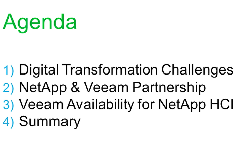 Learn how to accelerate digital transformation with NetApp HCI and Veeam