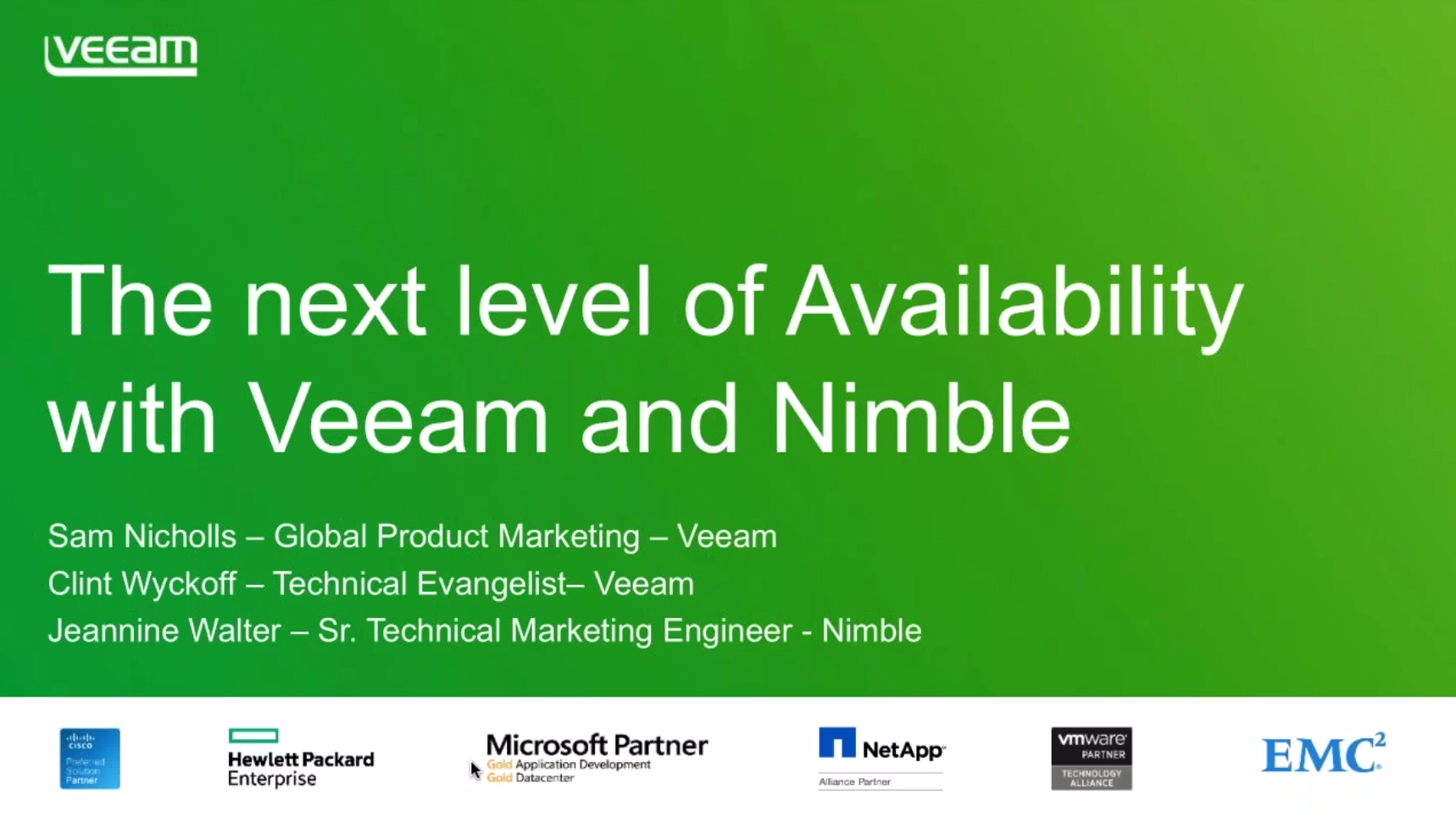 Veeam and Nimble: Meet Enterprise SLAs with Expanded Storage Snapshot Integration