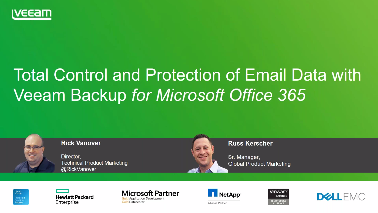 Total control and protection of email data with Veeam Backup for Microsoft Office 365