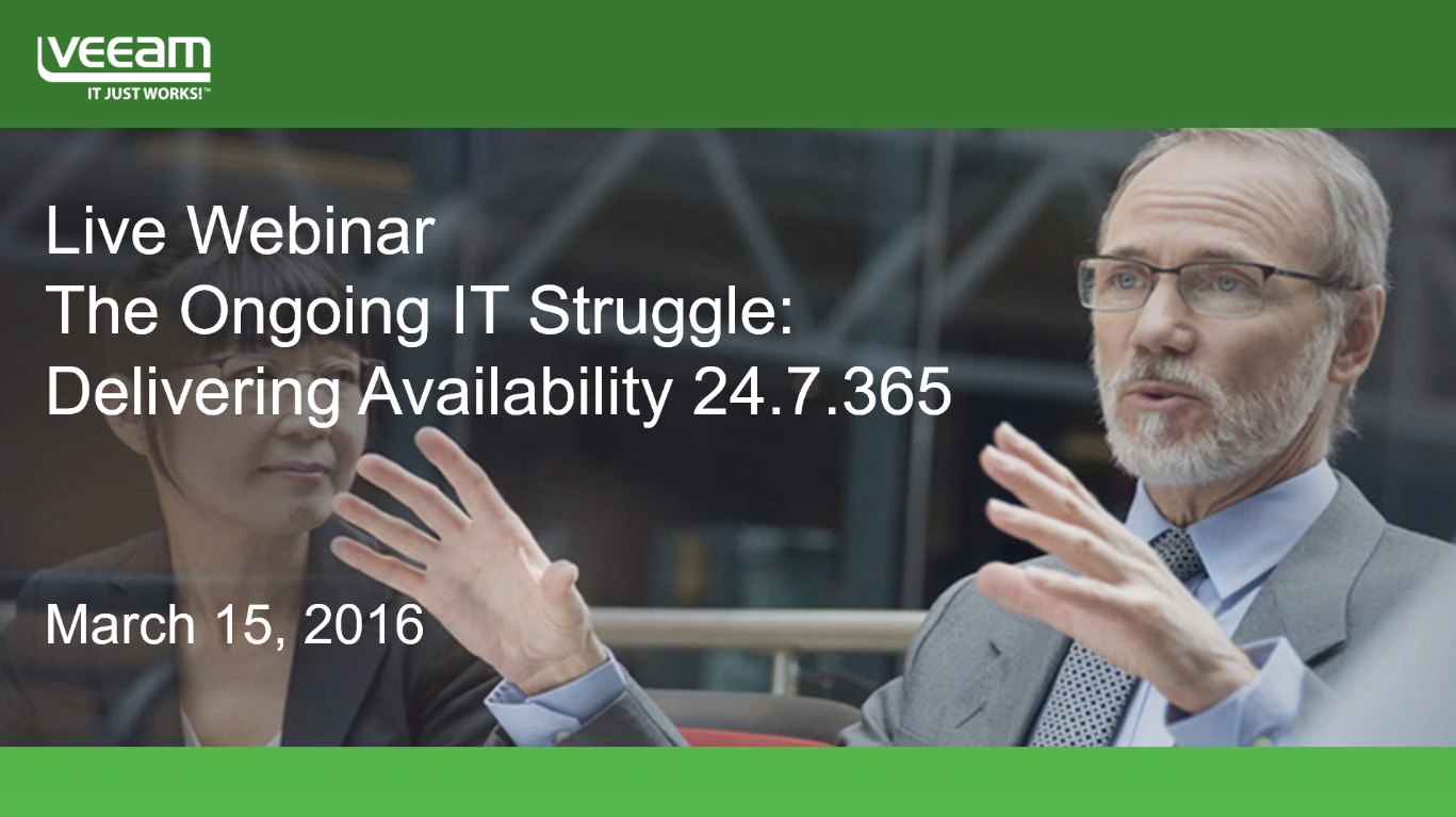 An Interview with Forrester about the ongoing IT struggle in delivering Availability 24/7/365