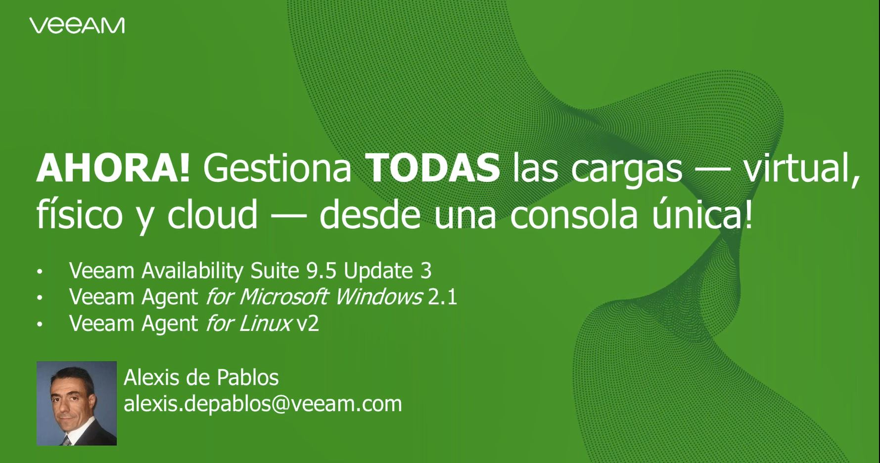 Disfrute del pre-estreno de  Veeam Availability Suite 9.5 Update3