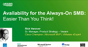 Availability for the Always-On SMB: Easier than you think