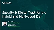Cloud-based Digital Infrastructure. Security & Digital Trust for the Hybrid and Multi-cloud Era