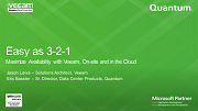 Easy as 3-2-1. Maximize Availability with Veeam and Quantum, On-site and in the Cloud