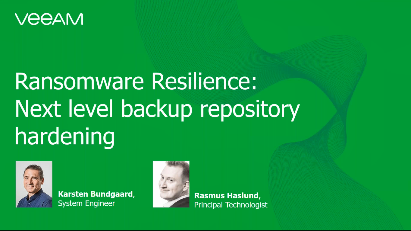 Ransomware Resilience: Next level backup repository hardening tips and tricks