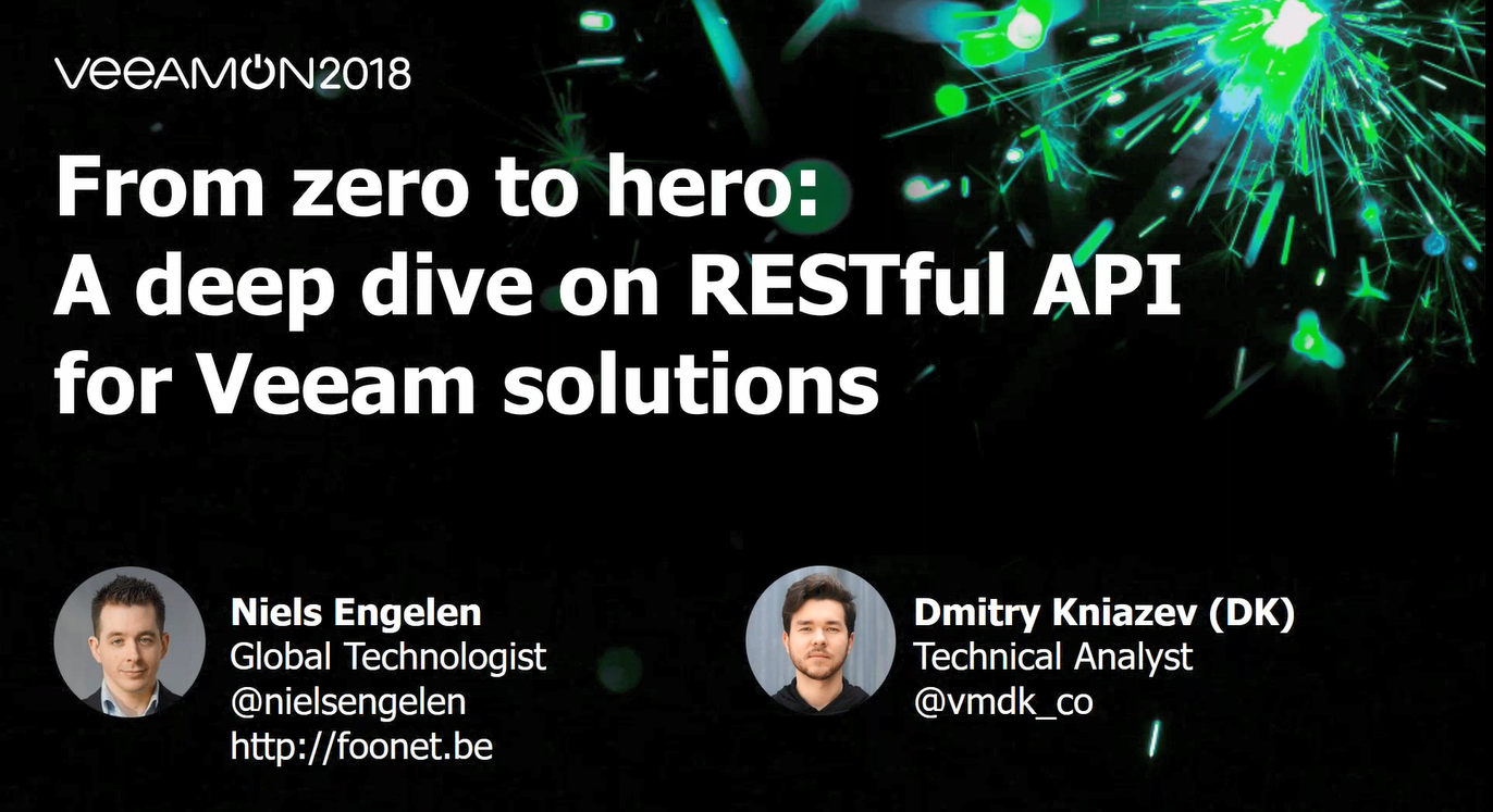 From zero to hero: A deep dive into RESTful API for Veeam solutions