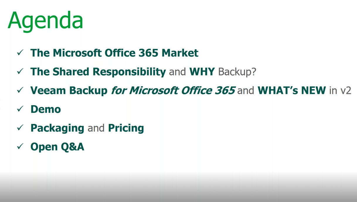 What's new in Veeam Backup  for Microsoft Office 365 v2