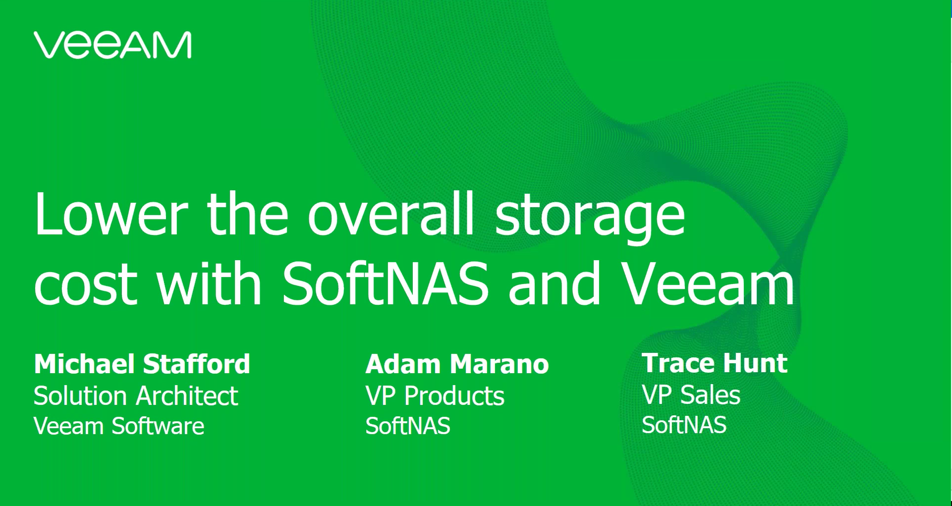 Lower the overall storage cost  with SoftNAS and Veeam