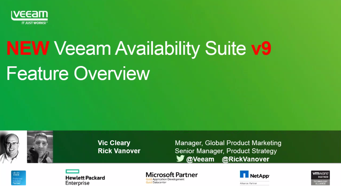 Veeam Availability Suite Feature Overview