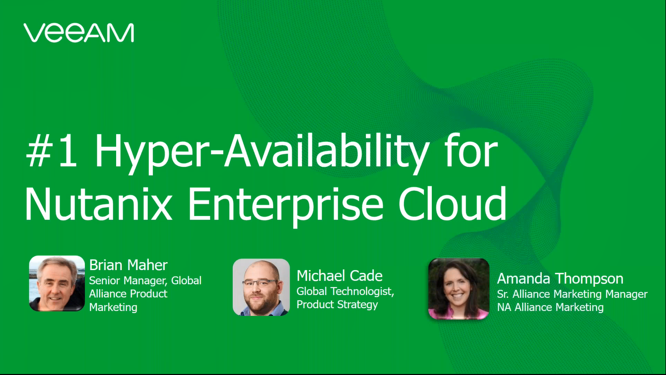 #1 Hyper-Availability for Nutanix Enterprise Cloud