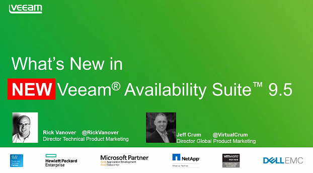Veeam Availability Suite 9.5 Delivers Enterprise Scalability: Now Generally Available!