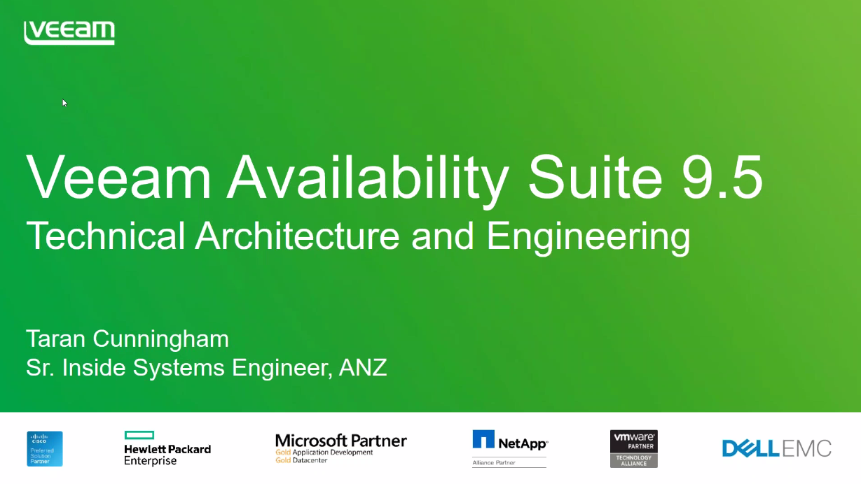Veeam Availability Suite 9.5 — Architecture and engineering