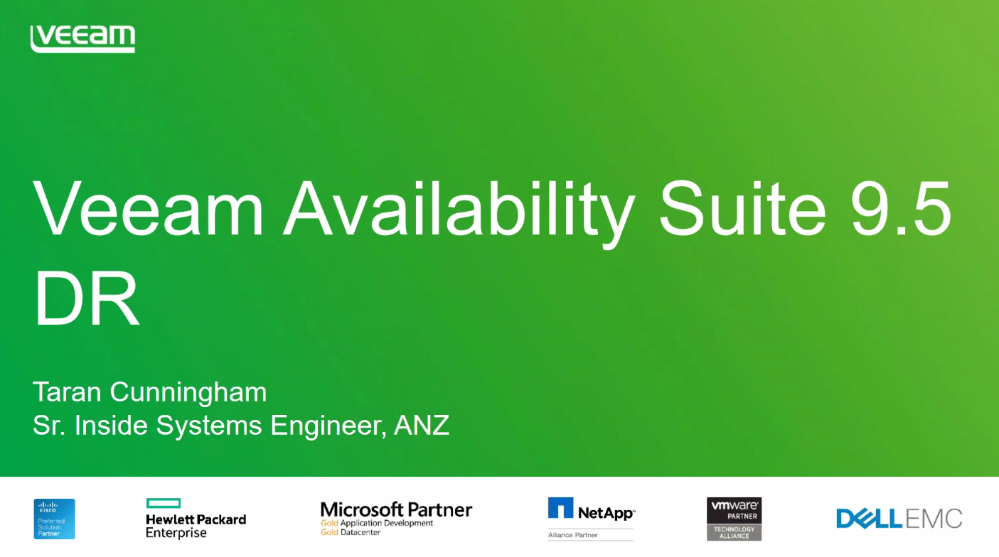 Veeam Availability Suite 9.5 disaster recovery — Replication and DR