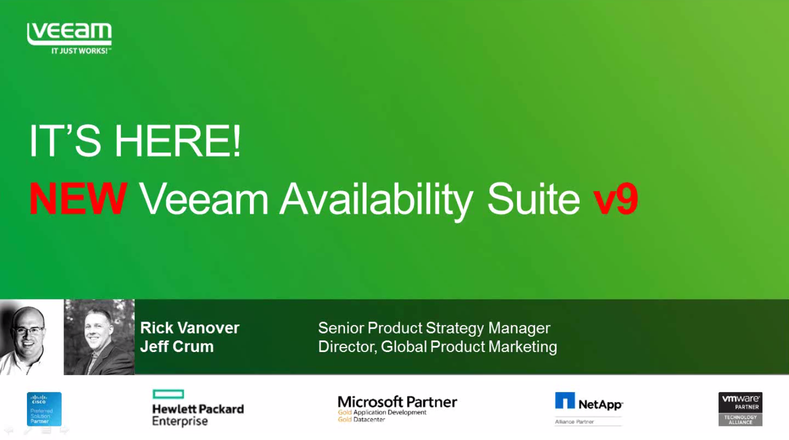 It's here! NEW Veeam Availability Suite v9!