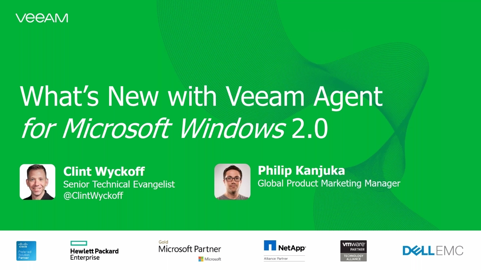 Availability on-premises, in the cloud and on the go with Veeam Agent for Microsoft Windows