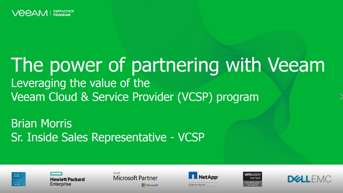 Veeam VCSP Enablement Series 2018