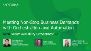 Exclusive product preview of NEW Veeam Availability Orchestrator v2