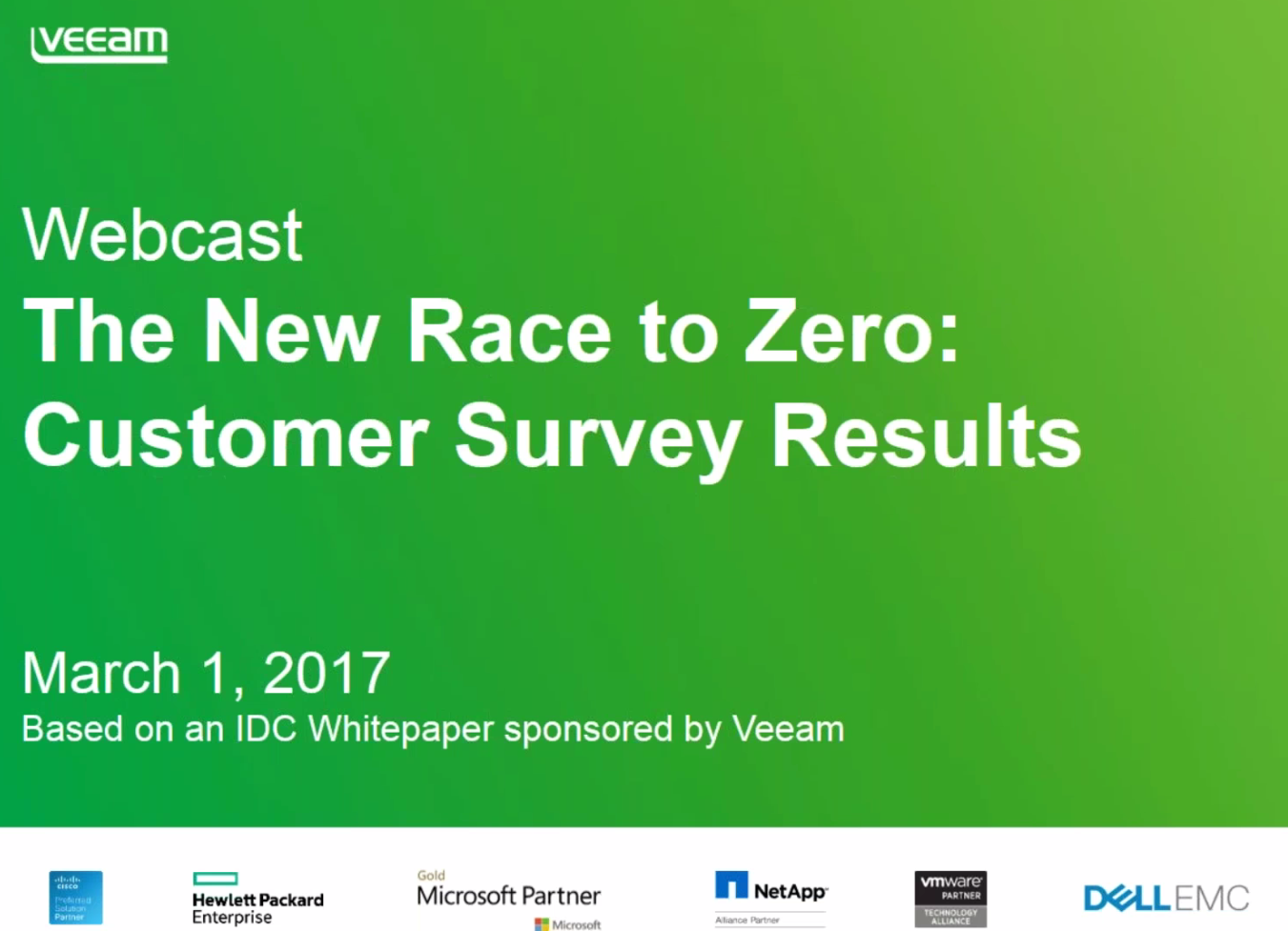Learn why businesses turn to Veeam in the Race to Zero downtime