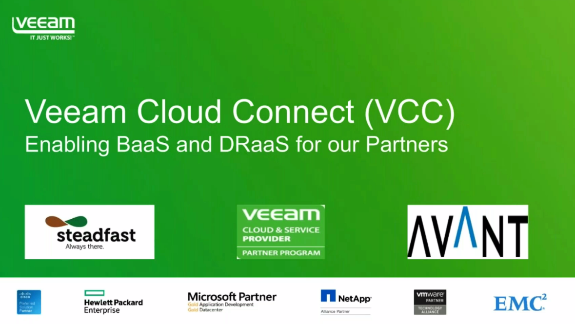 Veeam webinar with Steadfast and Avant