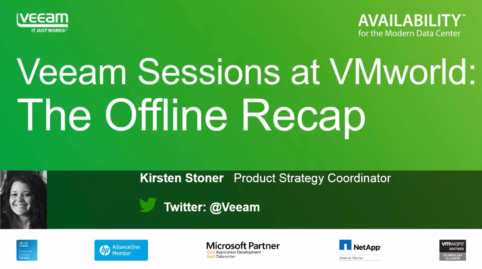 Veeam Sessions at VMworld San Francisco: The Offline Recap