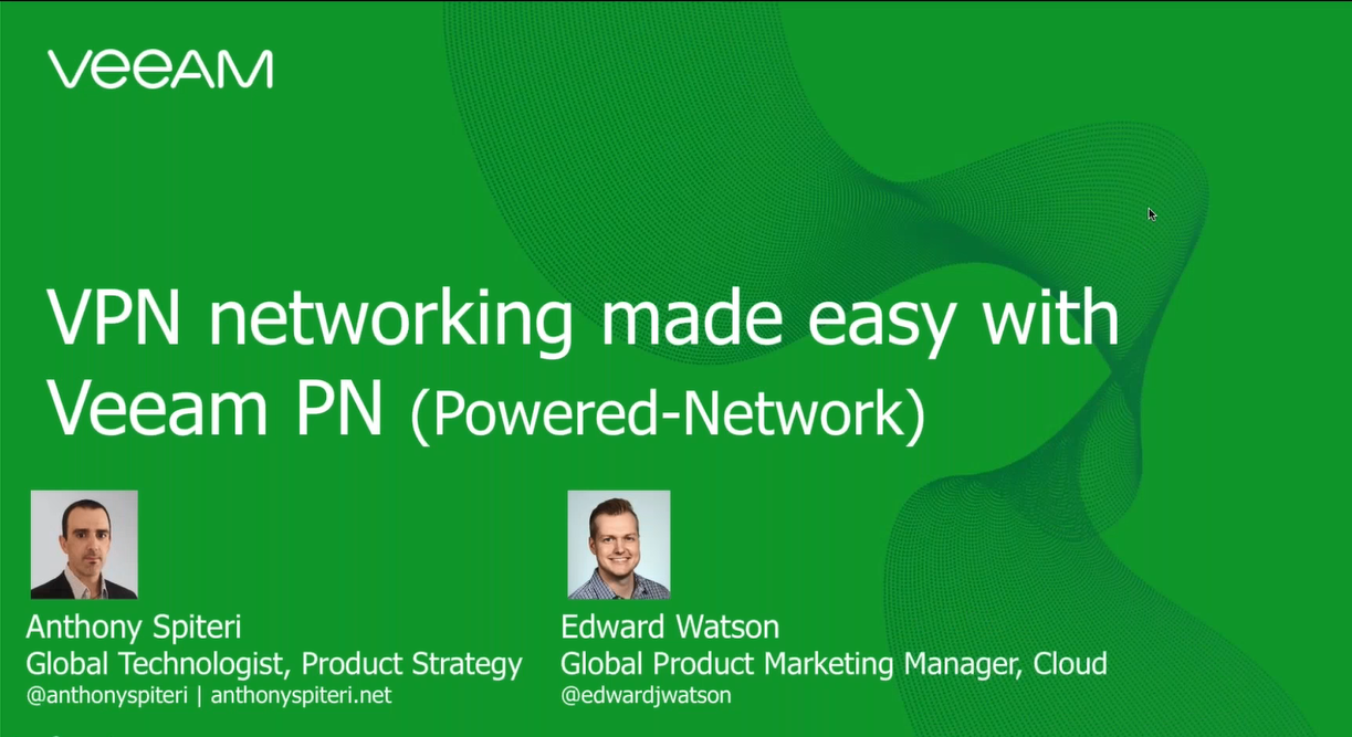 VPN networking made easy with Veeam PN (Powered-Network)