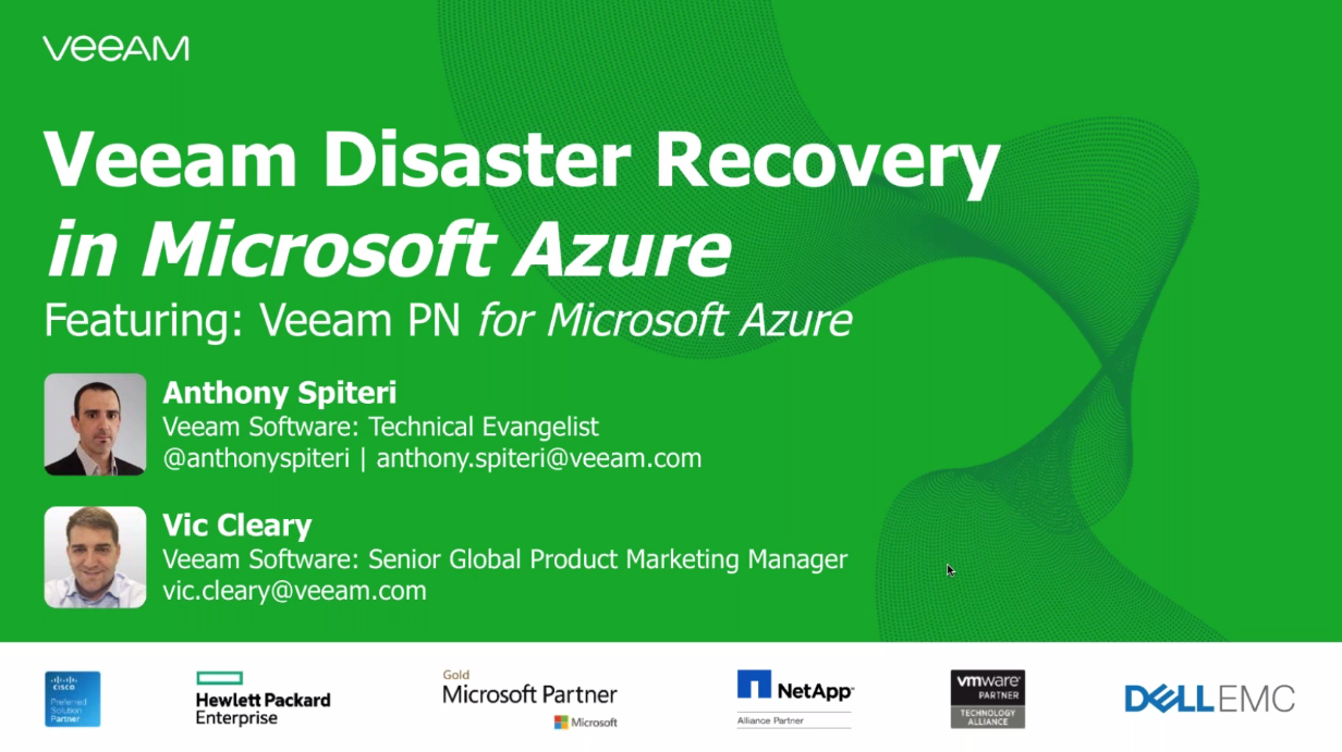 Get on-demand DR in the cloud  with Veeam Disaster Recovery in Microsoft Azure