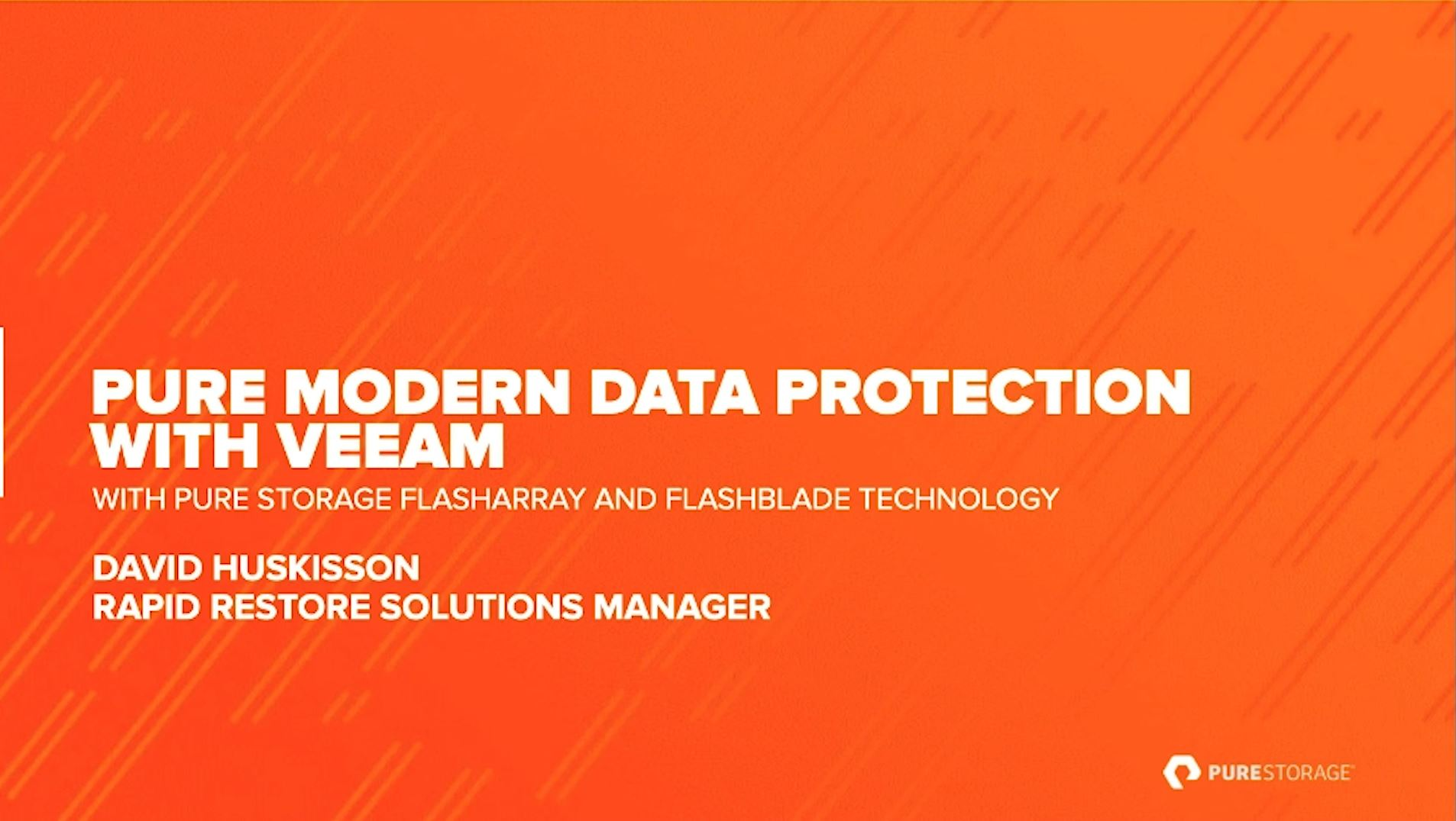 Pure modern data protection with Veeam