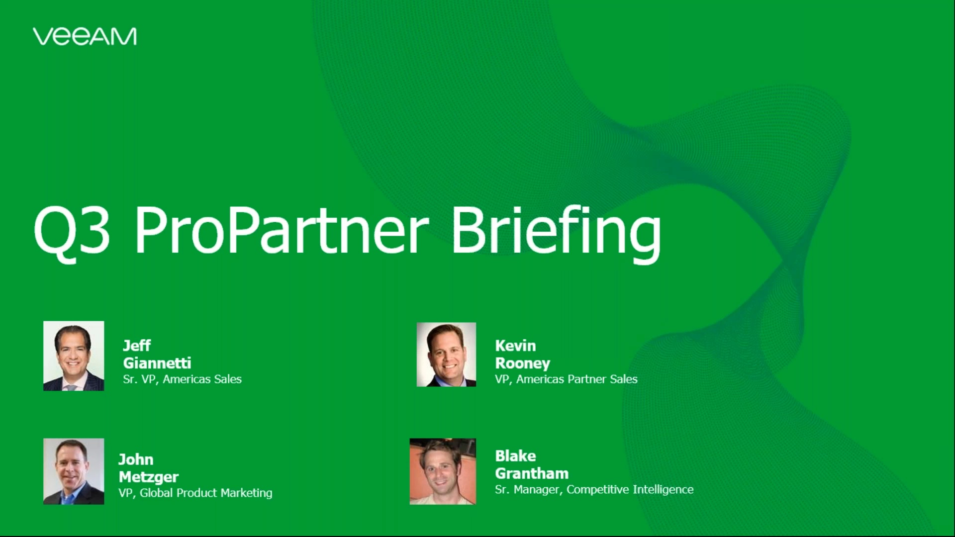 Q3 ProPartner briefing