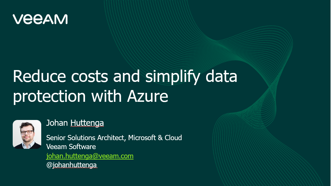 Reduce costs and simplify data protection with Azure