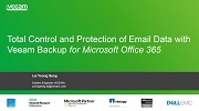Take control and protection of email data with Veeam Backup for Microsoft Office 365