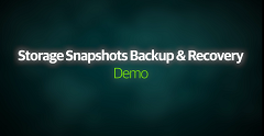 Storage Snapshots Backup & Recovery Demo