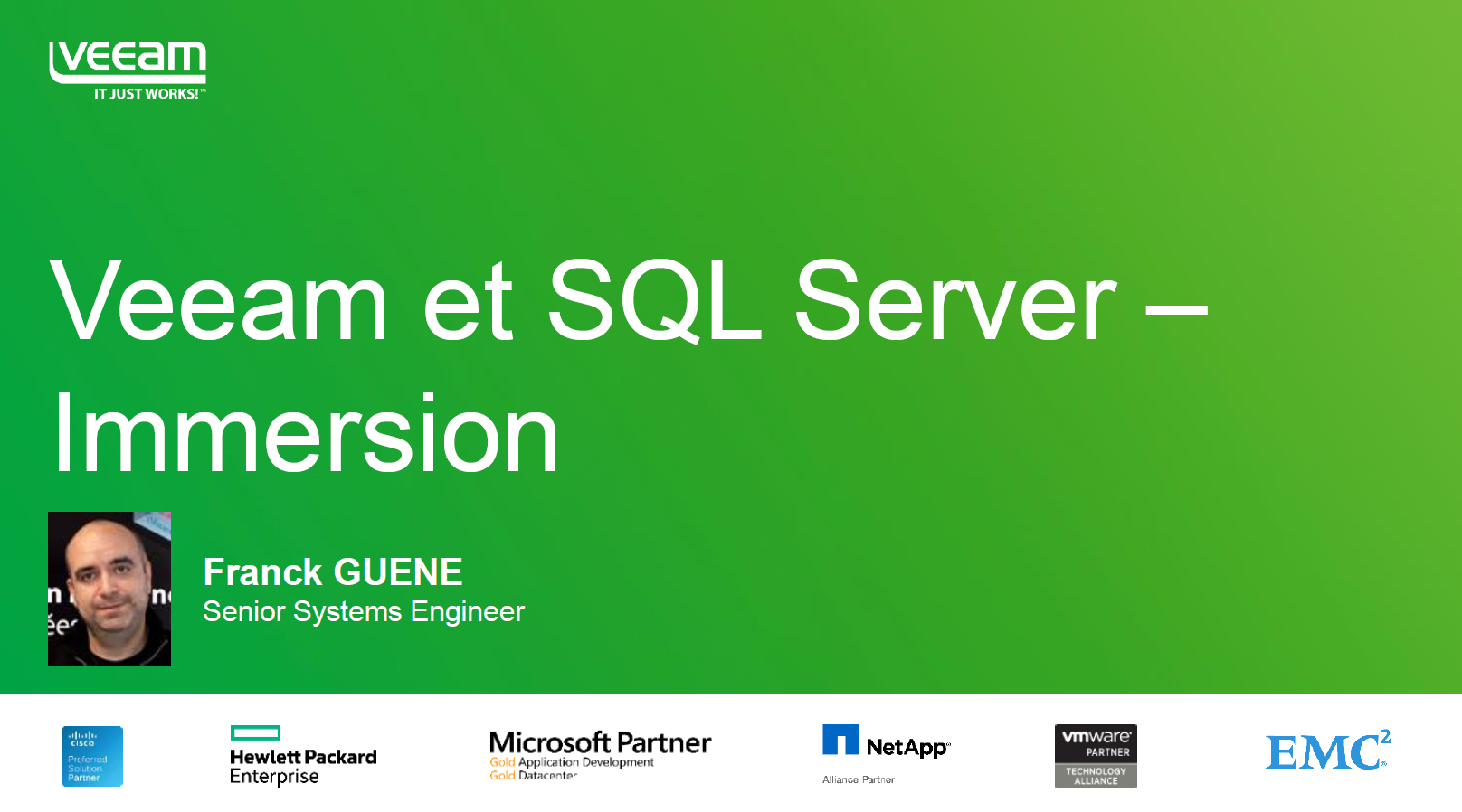 PARTIE 3 : Veeam et Microsoft SQL Server – immersion