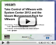 Take control of VMware with System Center 2012 and the Veeam MP