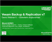 Veeam Backup & Replication Demo Serisi - II.