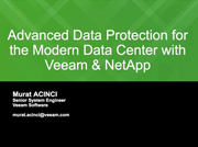 Veeam Backup & Replication - Backup From SAN Snapshots - NetApp Destegi
