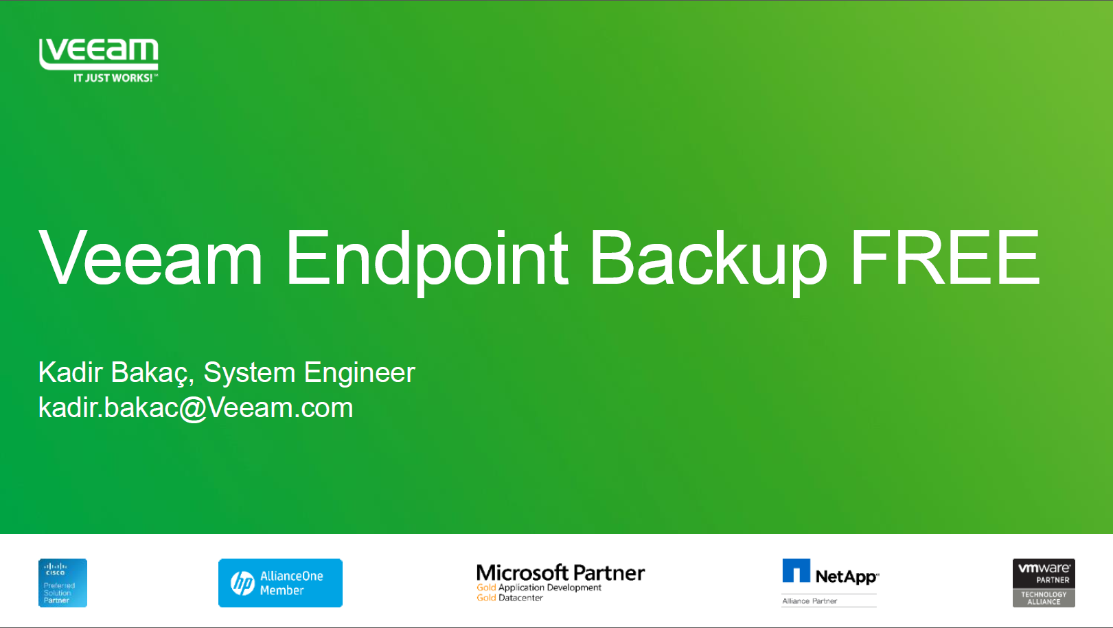 Veeam Endpoint Backup FREE ye Giriş