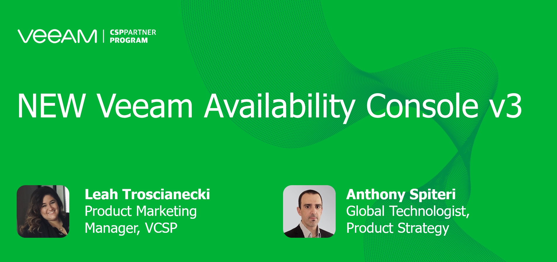 NEW Veeam Availability Console v3 Makes Service Delivery Simple