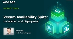 Veeam Availability Suite – Installation and Deployment