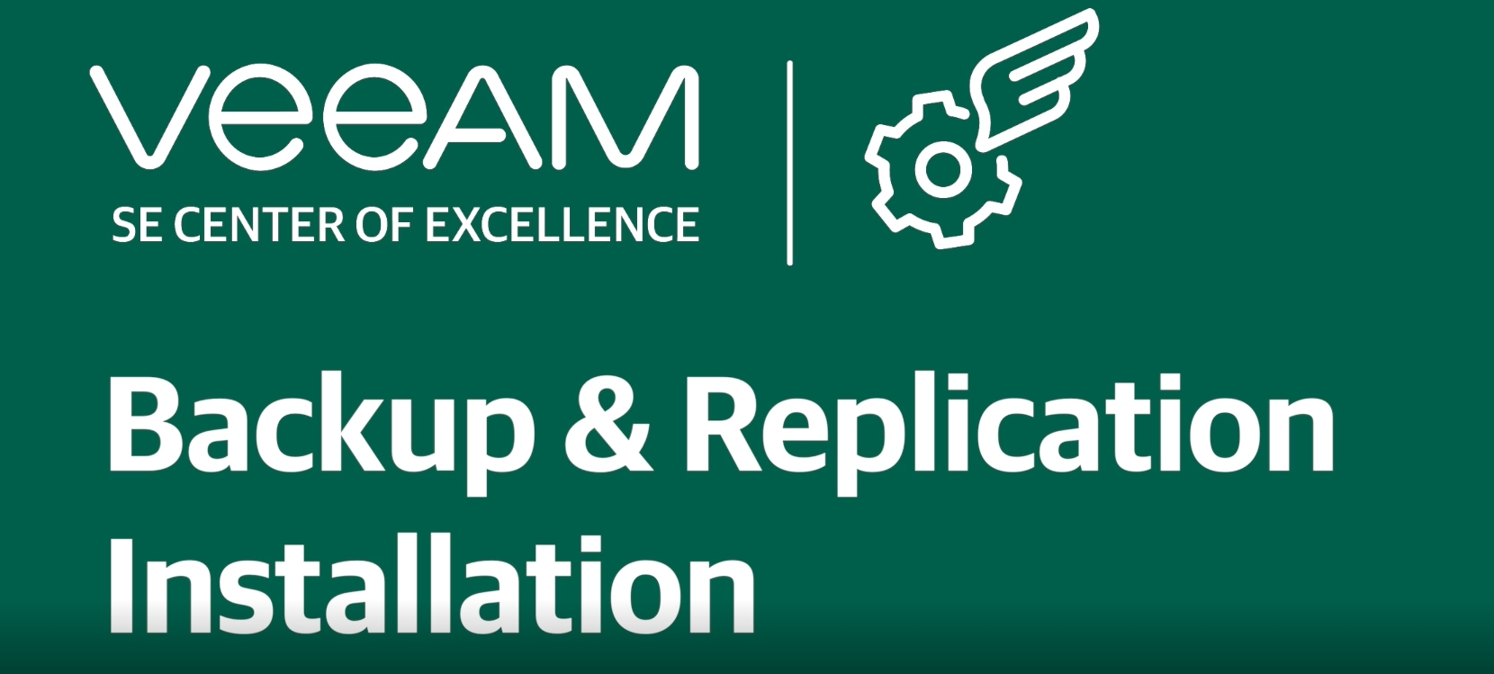 How to install Veeam Backup & Replication