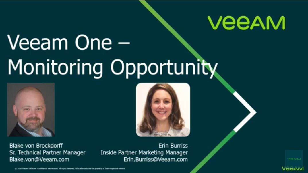 Veeam ONE – Product Overview