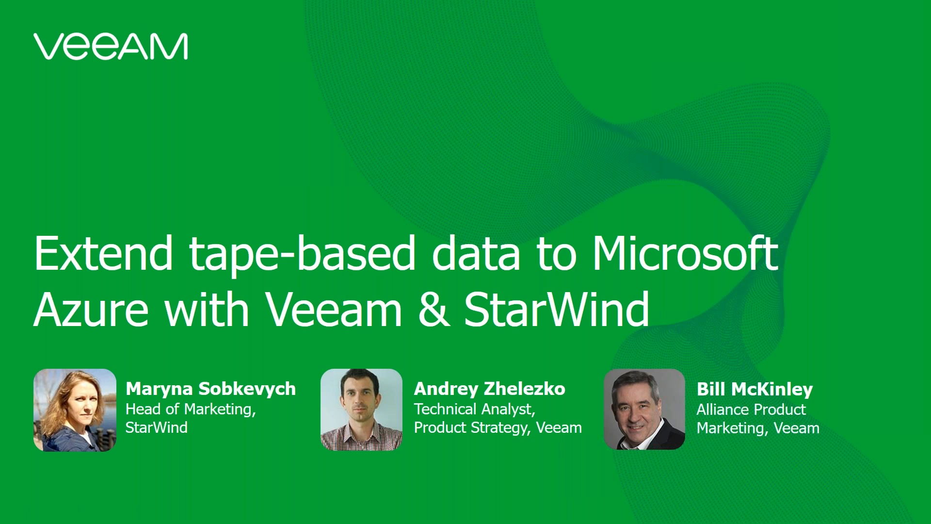Extend tape-based data to Microsoft Azure  with Veeam & StarWind