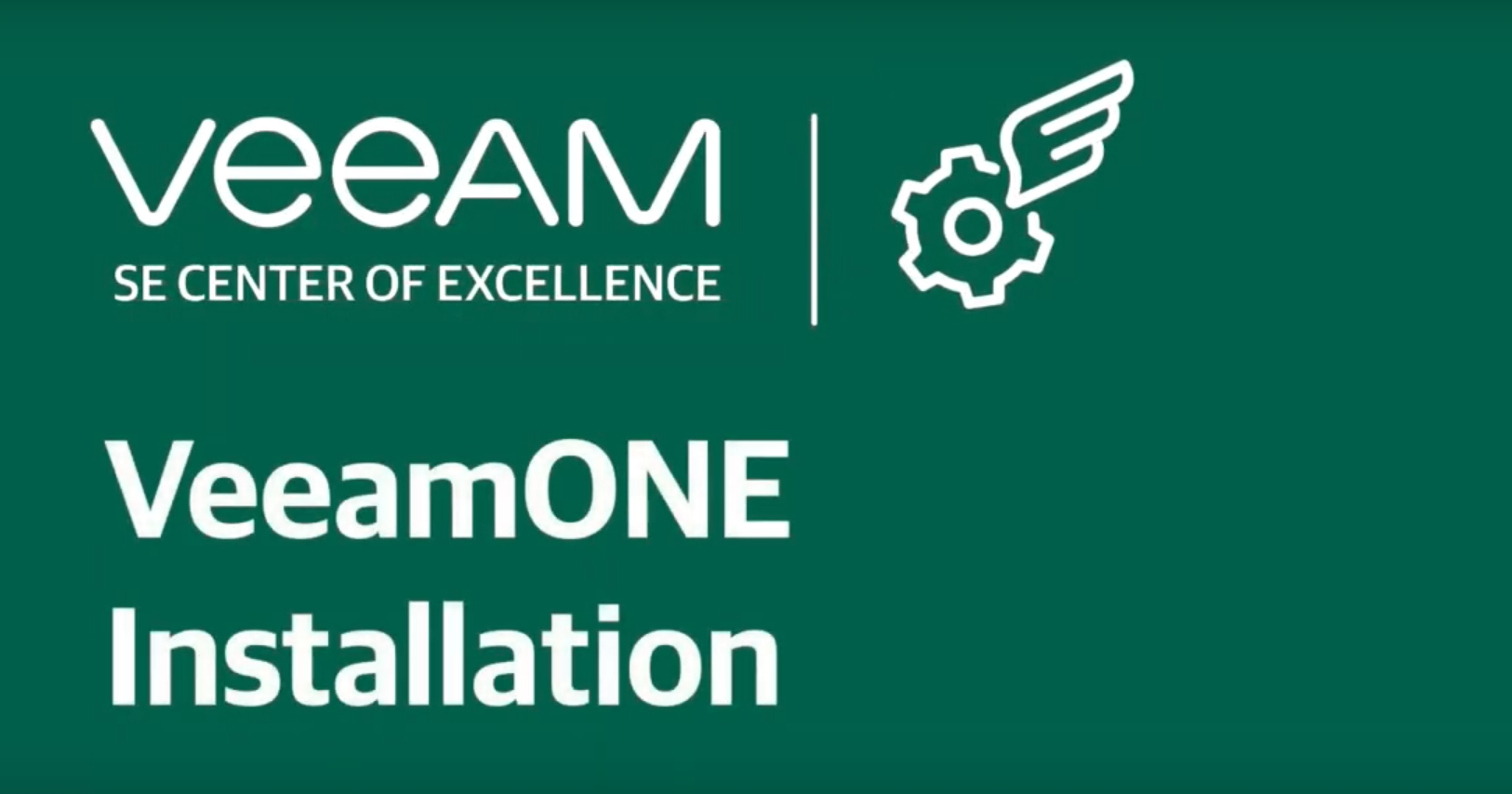 How to install Veeam ONE