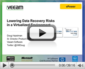 Lowering Data Recovery Risks in a Virtualized Environment