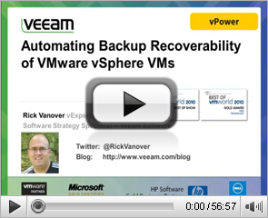 Automating Backup recoverability of vSphere VMs