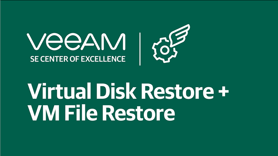 How to perform virtual disk and VM file restore