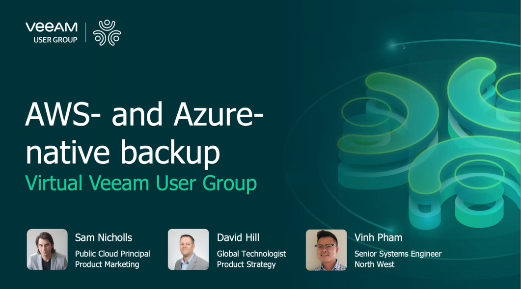 Veeam User Group: AWS- and Azure‑native backup